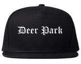 Deer Park Texas TX Old English Mens Snapback Hat Black