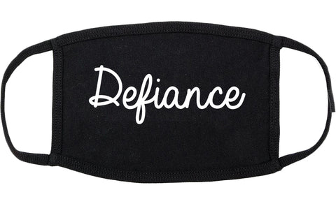 Defiance Ohio OH Script Cotton Face Mask Black