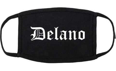 Delano California CA Old English Cotton Face Mask Black