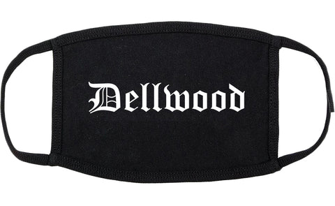 Dellwood Missouri MO Old English Cotton Face Mask Black