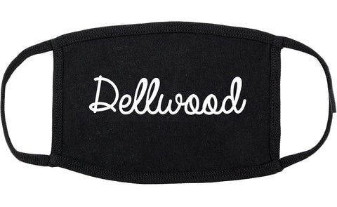 Dellwood Missouri MO Script Cotton Face Mask Black