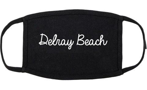 Delray Beach Florida FL Script Cotton Face Mask Black