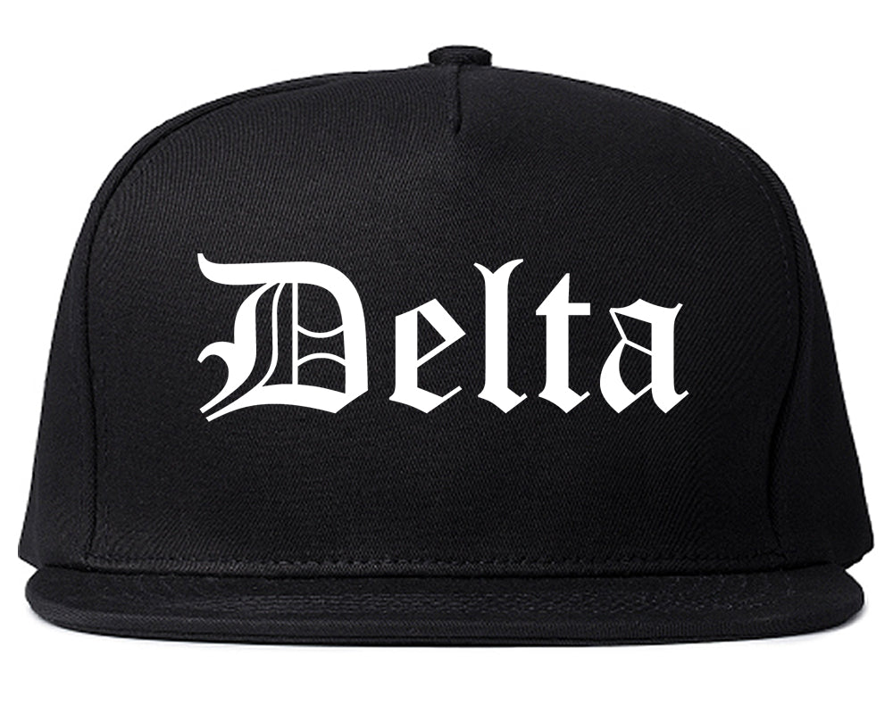 Delta Colorado CO Old English Mens Snapback Hat Black