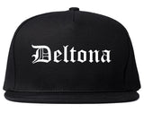 Deltona Florida FL Old English Mens Snapback Hat Black