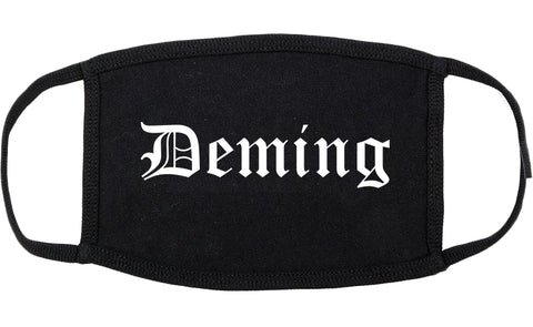 Deming New Mexico NM Old English Cotton Face Mask Black