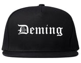 Deming New Mexico NM Old English Mens Snapback Hat Black