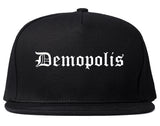 Demopolis Alabama AL Old English Mens Snapback Hat Black