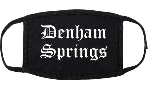 Denham Springs Louisiana LA Old English Cotton Face Mask Black