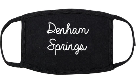 Denham Springs Louisiana LA Script Cotton Face Mask Black