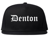 Denton Texas TX Old English Mens Snapback Hat Black