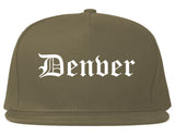 Denver Colorado CO Old English Mens Snapback Hat Grey