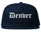 Denver Colorado CO Old English Mens Snapback Hat Navy Blue