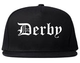 Derby Connecticut CT Old English Mens Snapback Hat Black
