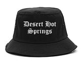 Desert Hot Springs California CA Old English Mens Bucket Hat Black