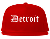 Detroit Michigan MI Old English Mens Snapback Hat Red
