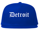 Detroit Michigan MI Old English Mens Snapback Hat Royal Blue