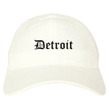 Detroit Michigan MI Old English Mens Dad Hat Baseball Cap White