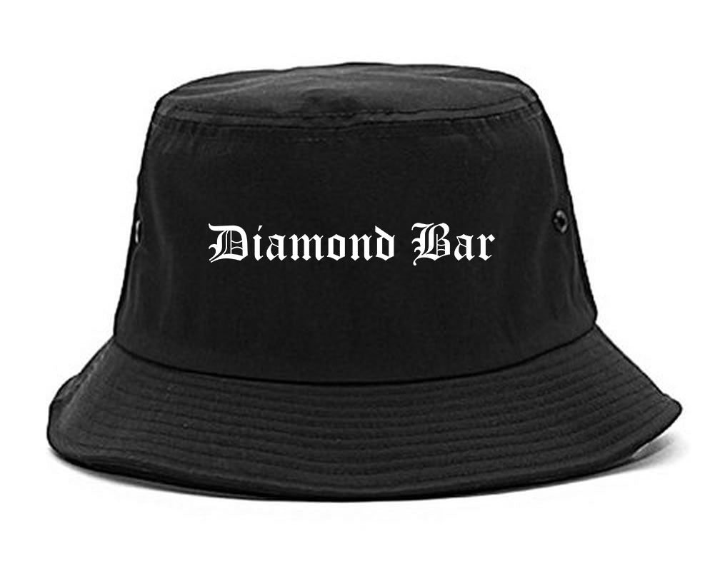 Diamond Bar California CA Old English Mens Bucket Hat Black