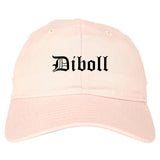 Diboll Texas TX Old English Mens Dad Hat Baseball Cap Pink