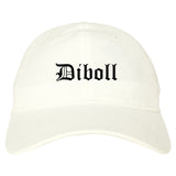 Diboll Texas TX Old English Mens Dad Hat Baseball Cap White