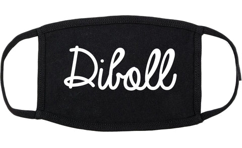 Diboll Texas TX Script Cotton Face Mask Black