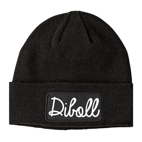 Diboll Texas TX Script Mens Knit Beanie Hat Cap Black