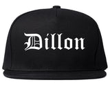 Dillon South Carolina SC Old English Mens Snapback Hat Black