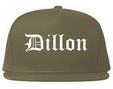 Dillon South Carolina SC Old English Mens Snapback Hat Grey