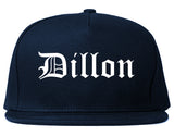 Dillon South Carolina SC Old English Mens Snapback Hat Navy Blue
