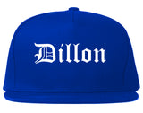 Dillon South Carolina SC Old English Mens Snapback Hat Royal Blue