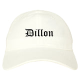 Dillon South Carolina SC Old English Mens Dad Hat Baseball Cap White