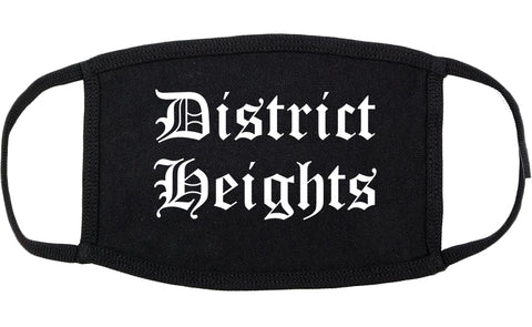 District Heights Maryland MD Old English Cotton Face Mask Black