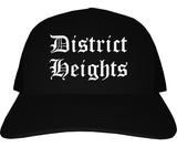 District Heights Maryland MD Old English Mens Trucker Hat Cap Black