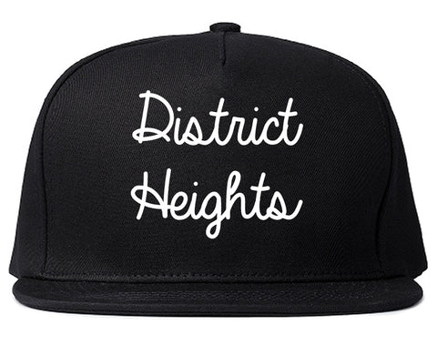 District Heights Maryland MD Script Mens Snapback Hat Black