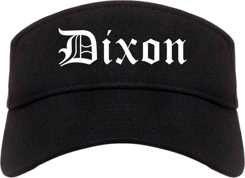 Dixon California CA Old English Mens Visor Cap Hat Black