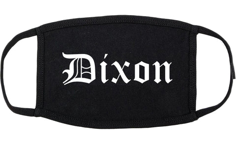 Dixon Illinois IL Old English Cotton Face Mask Black