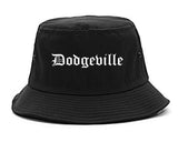 Dodgeville Wisconsin WI Old English Mens Bucket Hat Black