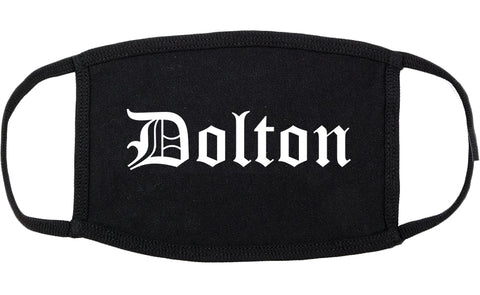 Dolton Illinois IL Old English Cotton Face Mask Black