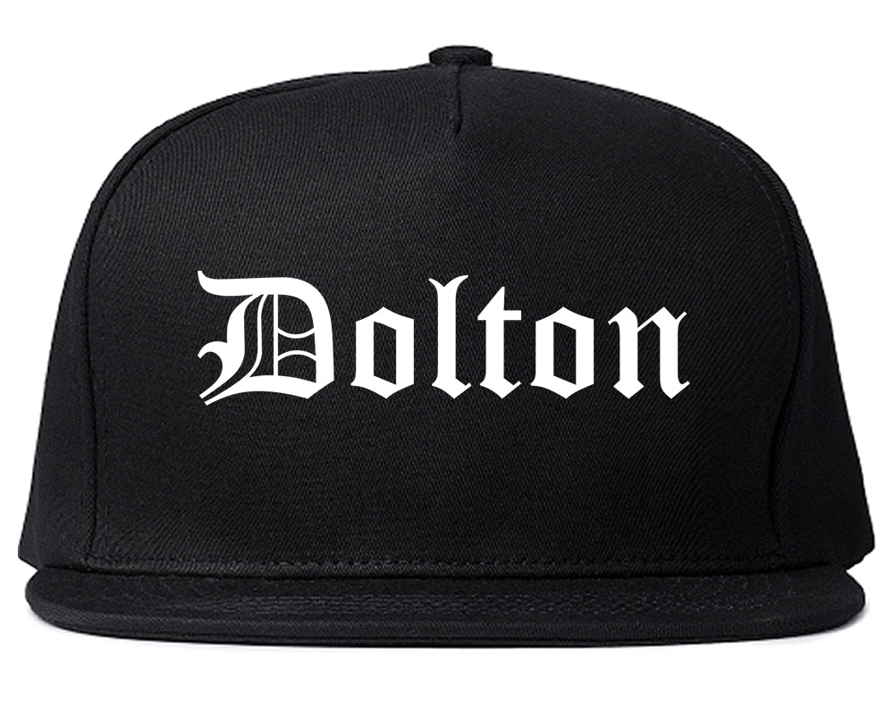 Dolton Illinois IL Old English Mens Snapback Hat Black