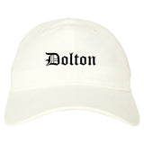 Dolton Illinois IL Old English Mens Dad Hat Baseball Cap White