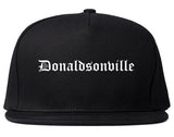 Donaldsonville Louisiana LA Old English Mens Snapback Hat Black