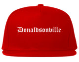 Donaldsonville Louisiana LA Old English Mens Snapback Hat Red