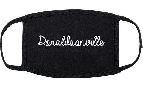 Donaldsonville Louisiana LA Script Cotton Face Mask Black