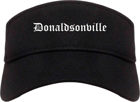 Donaldsonville Louisiana LA Old English Mens Visor Cap Hat Black