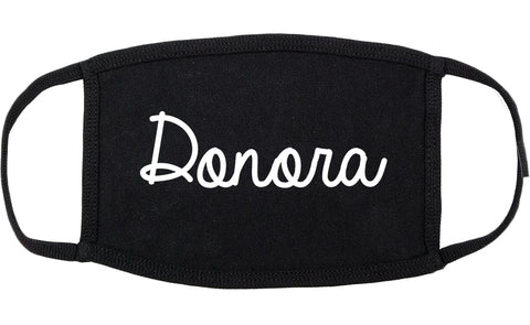 Donora Pennsylvania PA Script Cotton Face Mask Black