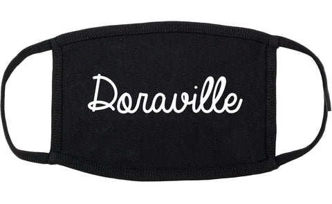 Doraville Georgia GA Script Cotton Face Mask Black