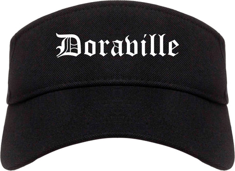 Doraville Georgia GA Old English Mens Visor Cap Hat Black