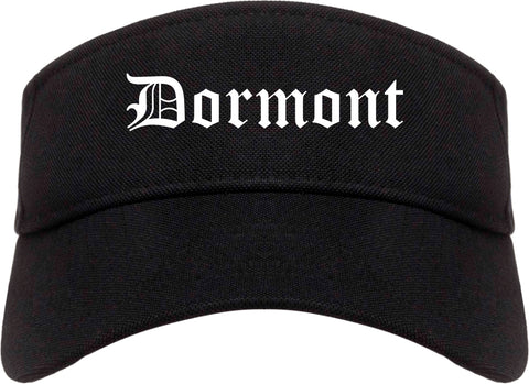 Dormont Pennsylvania PA Old English Mens Visor Cap Hat Black