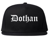Dothan Alabama AL Old English Mens Snapback Hat Black