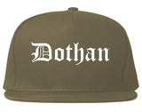 Dothan Alabama AL Old English Mens Snapback Hat Grey